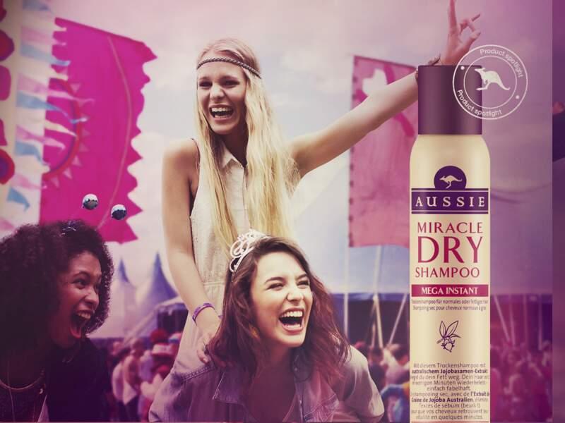 Janvier 2015, lancement de la gamme de shampoings secs Miracle Dry