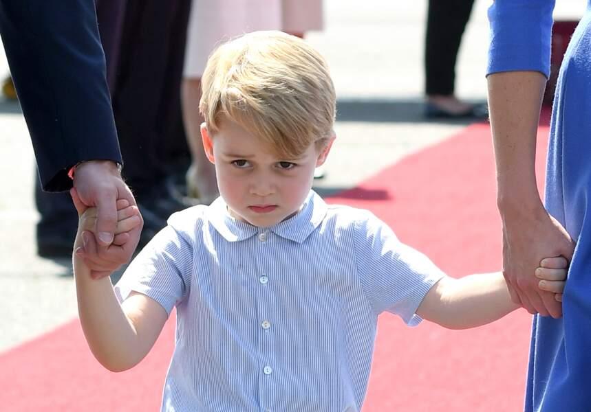 Anniversaire du Prince George - Même boudeur il nous fait fondre <3