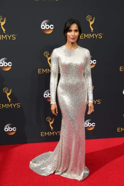 Emmy Awards 2016 : Padma Lakshmi en Naeem Khan