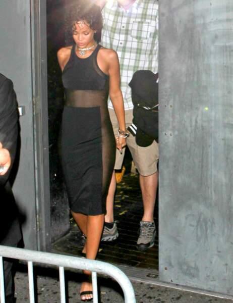 Rihanna aussi a choisi pour une fois de faire dans le soft