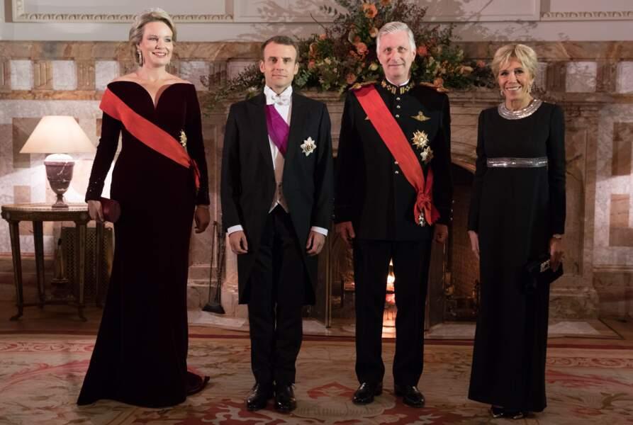 Emmanuel et Brigitte Macron en Belgique