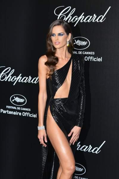 Izabel Goulart lors de la soirée Chopard organisée au festival de Cannes le 17 mai 2019
