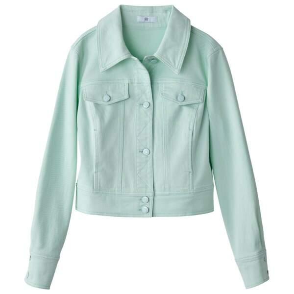 Veste en jean courte mint, La Redoute, 23,99 euros