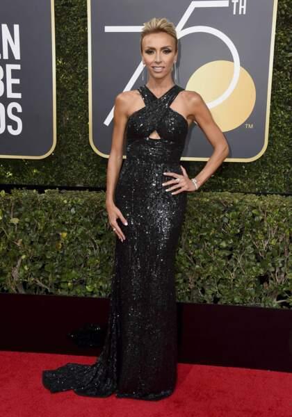 Giuliana Rancic lors de la 75e cérémonie des Golden Globes, le 7 janvier 2018