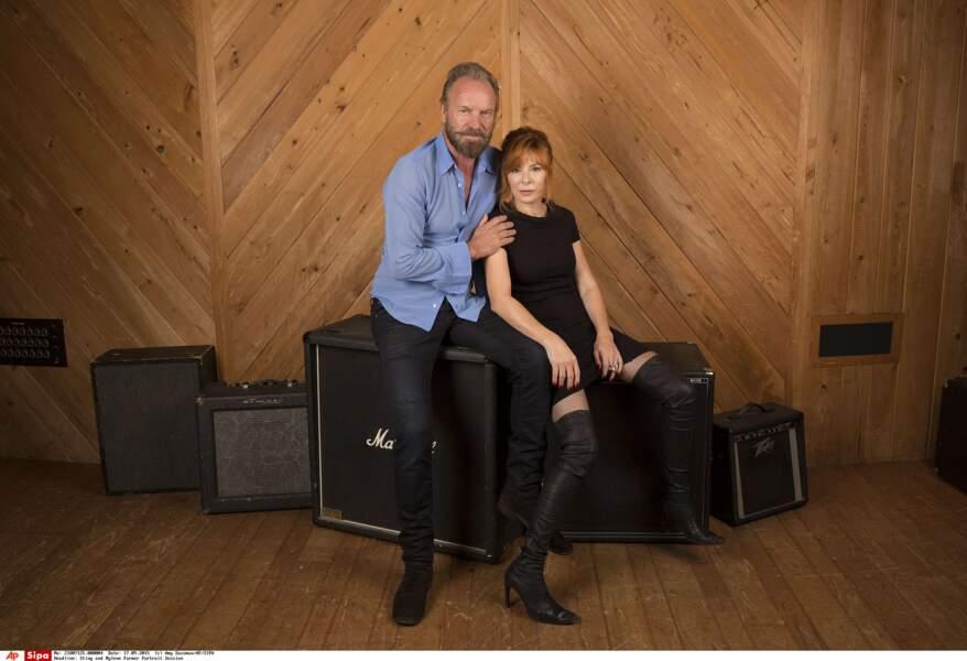 Sting et Mylène Farmer : 2 stars XXL