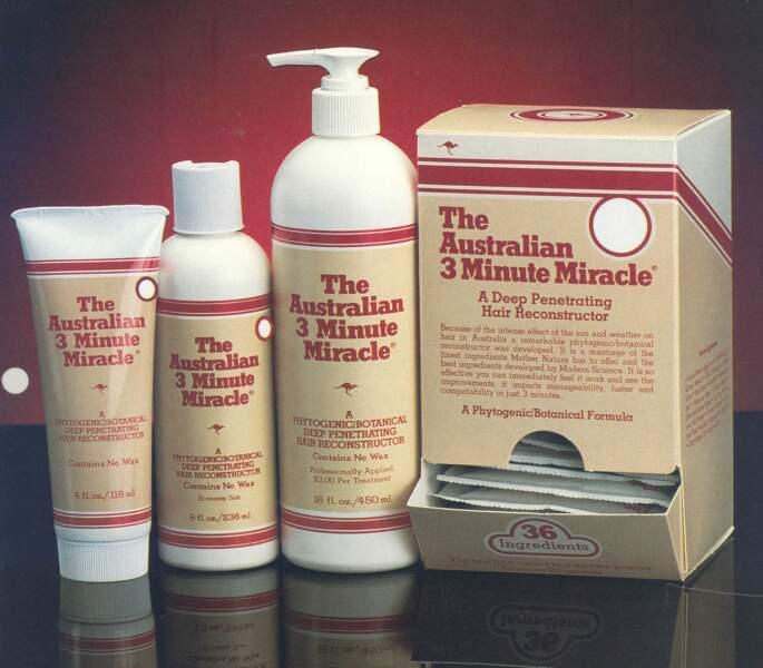 1986, campagne de publicité pour la gamme phare, The Australian 3 Minute Miracle