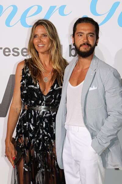 Heidi Klum et Tom Kaulitz, au gala de l'UNICEF en Sardaigne, le 10 août 2018