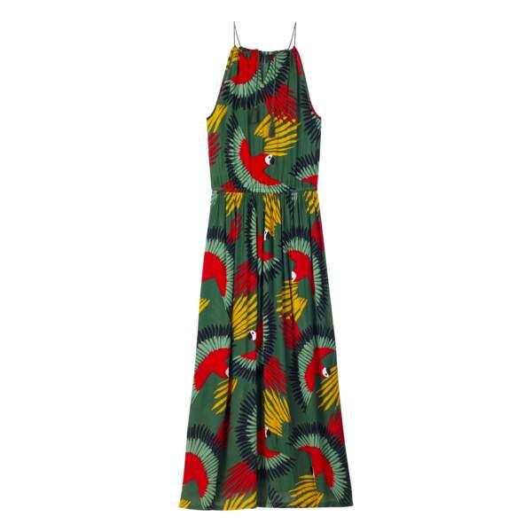 Monoprix. Robe de plage à imprimé perroquet, 35,99 €