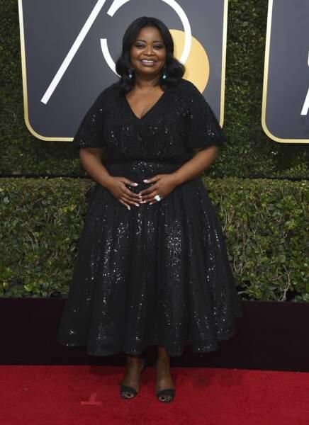 Octavia Spencer lors de la 75e cérémonie des Golden Globes, le 7 janvier 2018
