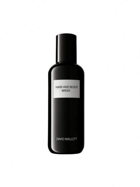 Cadeaux de fête des mères : gel douche corps et cheveux, David Mallett, 30€