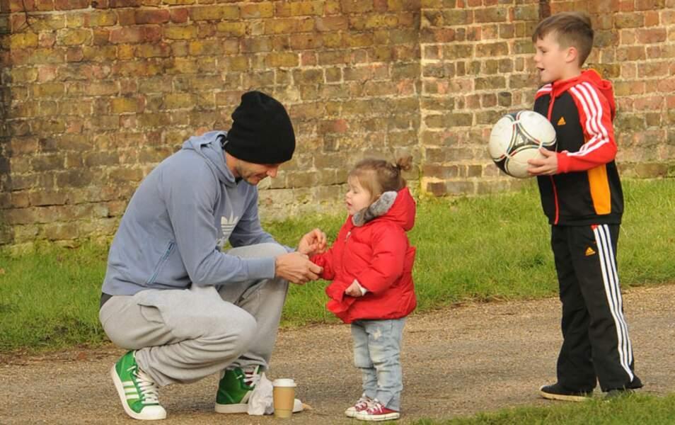 David, Harper et Cruz Beckham