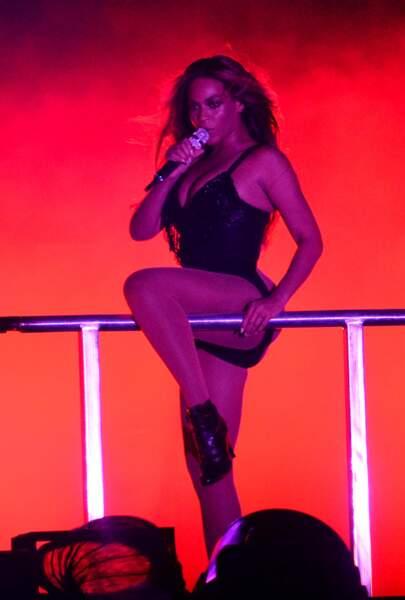 Beyoncé fait de la gym...