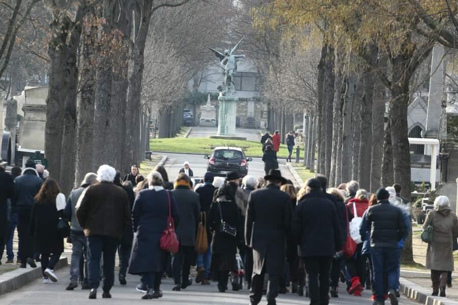 Obsèques de Thierry Sechan au cimetière Montparnasse