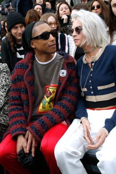 Pharell Williams avec Cara Delevingne
