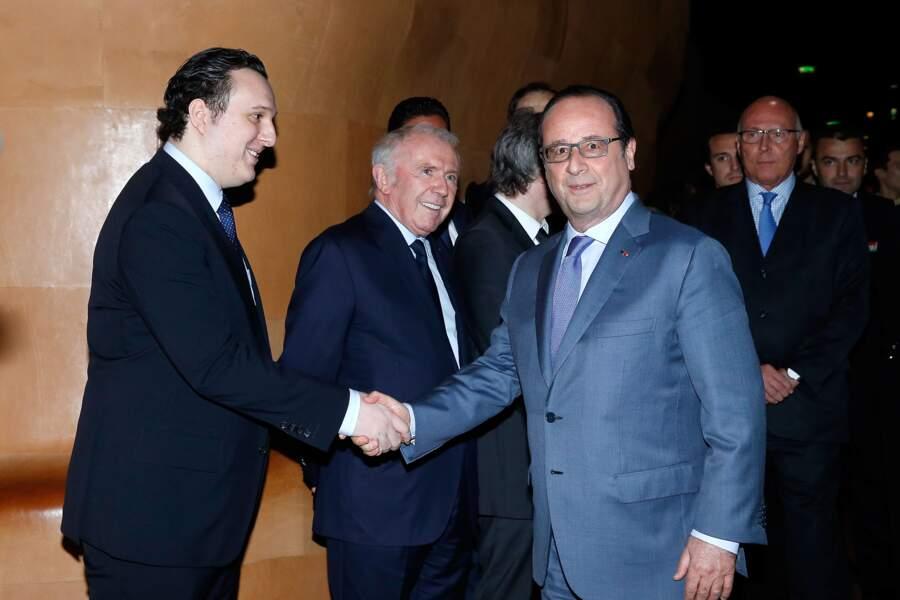 Martin Rey-Chirac a pu serrer la main de François Hollande
