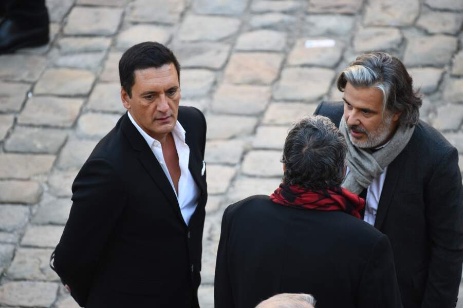 Dany Brillant et Christophe Barratier à l'hommage national à Charles Aznavour