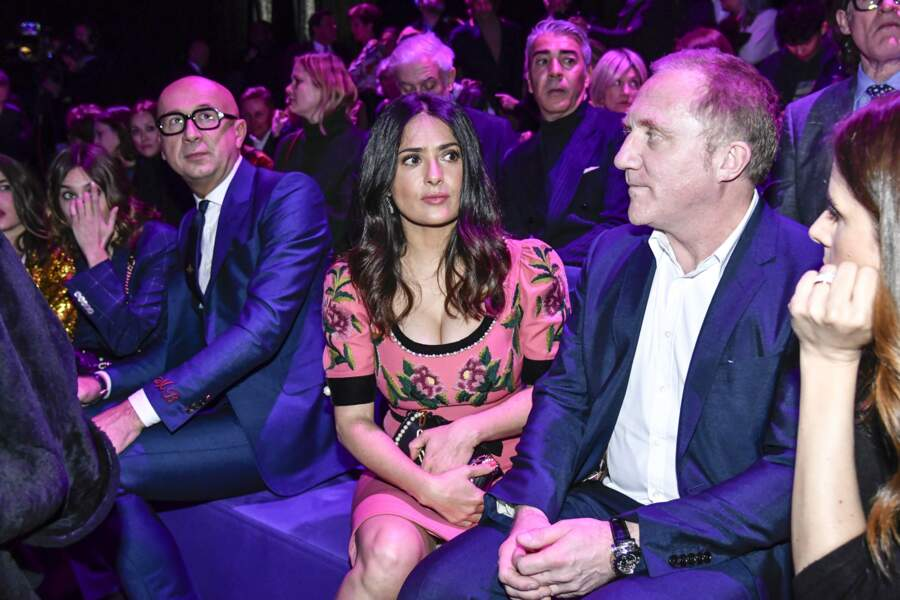 Défilé Gucci : Marco Bizzarri, Salma Hayek et Francois-Henri Pinault