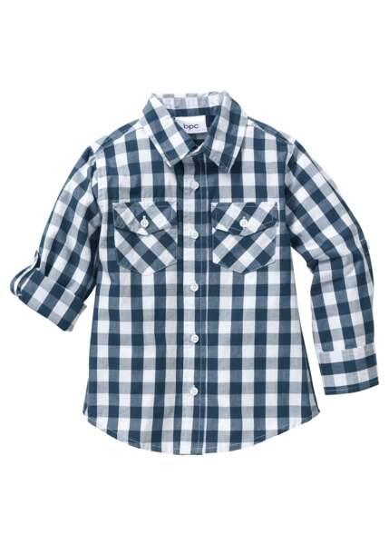 Chemise à carreaux. 14,99€, Bonprix.