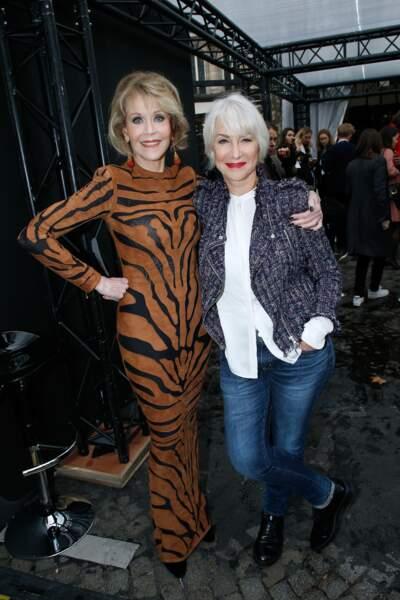 Le Défilé L'Oréal Paris show - Jane Fonda et Helen Mirren