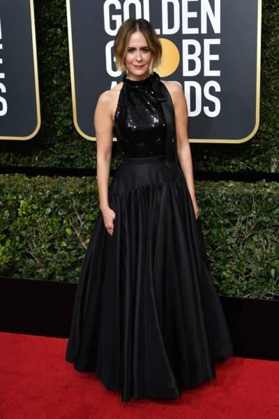 Sarah Paulson lors de la 75e cérémonie des Golden Globes, le 7 janvier 2018