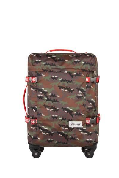 Maison Kitsuné x Eatspak : Trans 4S, valise cabine « camo fox », 210 euros