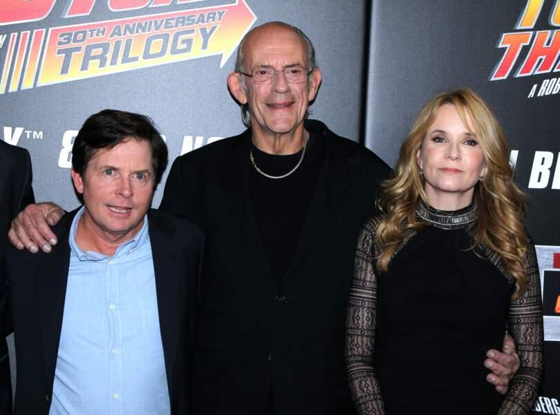 Marty McFly, Doc et Lorraine, les héros du film