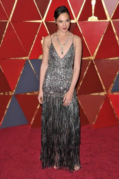 Gal Gadot à la 90e cérémonie des Oscars, à Los Angeles le 4 mars 2018