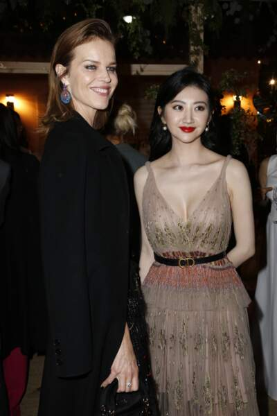 Jing Tian and Eva Herzigová au dîner Dior et Vogue lors du Festival de Cannes