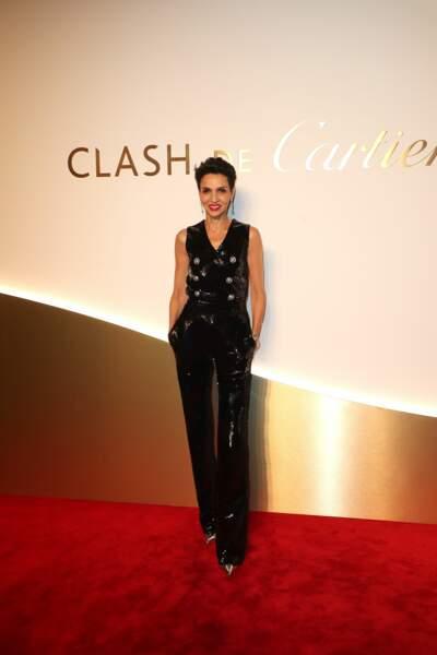 Farida Khelfa au dîner Cartier, le 10 avril 2019 à la Conciergerie de Paris