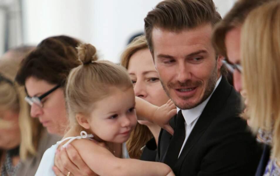 Harper Beckham au premier rang du défilé de Victoria Beckham à New York