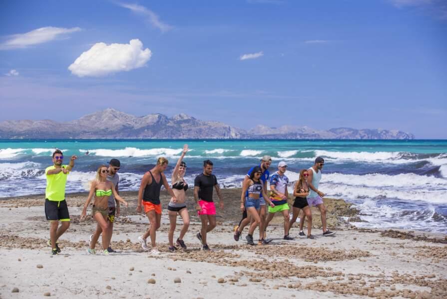 Les candidats à la plage