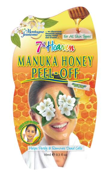Masque peel-off au miel de Manuka, Montagne Jeunesse, 1,79€