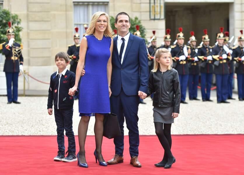 Laurence Auzière avec son mari et ses enfants