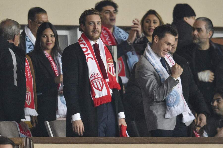 AS Monaco vs Manchester City : Marie, Pierre Casiraghi et Louis Ducruet heureux
