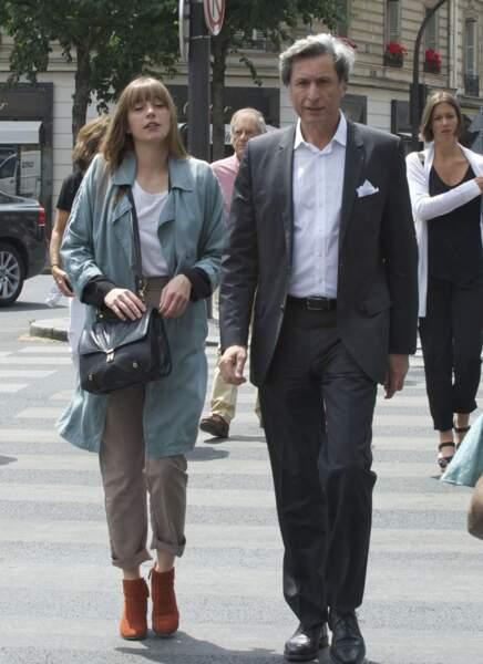 Patrick de Carolis et sa fille Joséphine