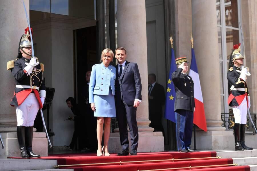 Emmanuel Macron et sa femme Brigitte