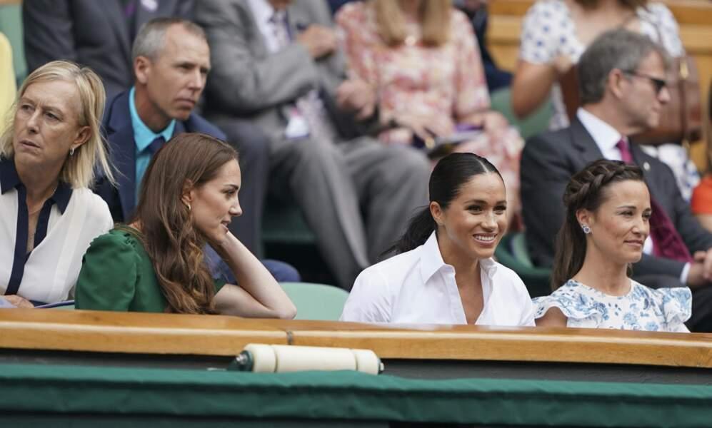 Les deux duchesses ravies d'être présentes au tournoi
