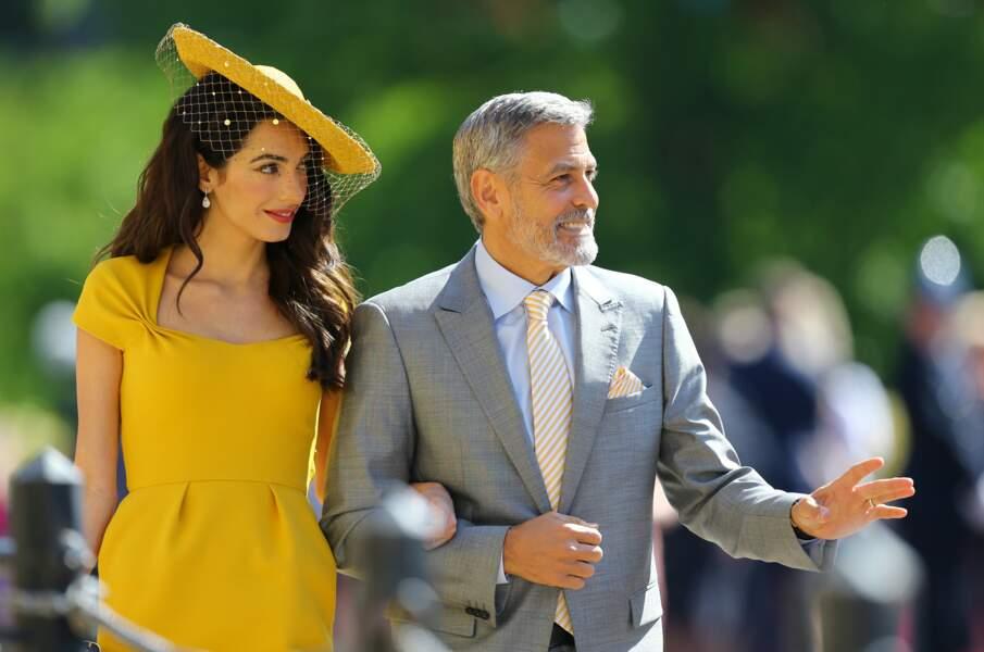 Amal et George Clooney au mariage d'Harry et Meghan