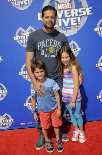 David Charvet et ses deux enfants Heaven Rain et Shaya