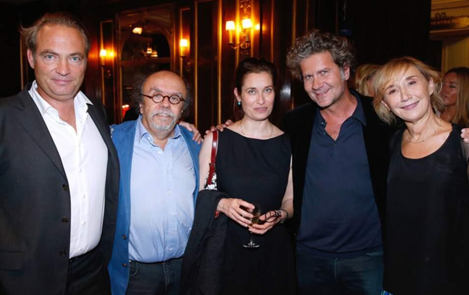 Gilles Cohen, Jean-Michel Ribes, Emmanuelle Devos, Fabrice Roger Lacan et Marie-Anne Chazel