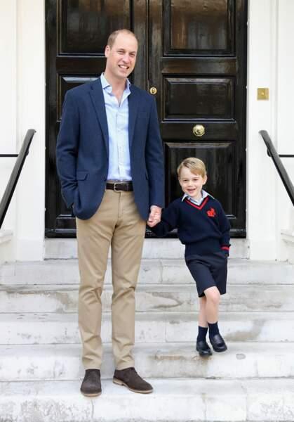 Le premier jour d'école de George