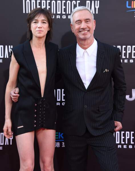 Charlotte Gainsbourg avec le réalisateur Roland Emmerich