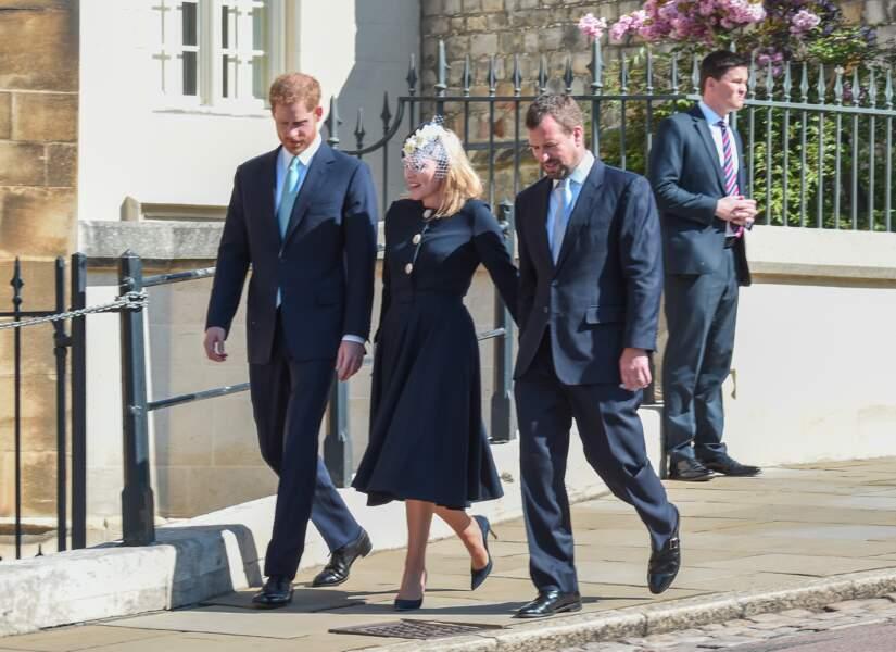 Le prince Harry, duc de Sussex, Peter Phillips et Autumn Phillips