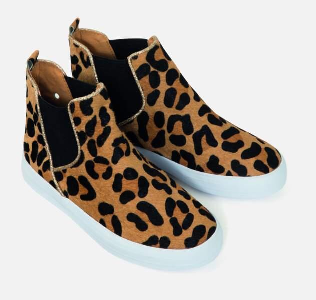 Chaussures imprimé animal. 34,99€, Monoprix.