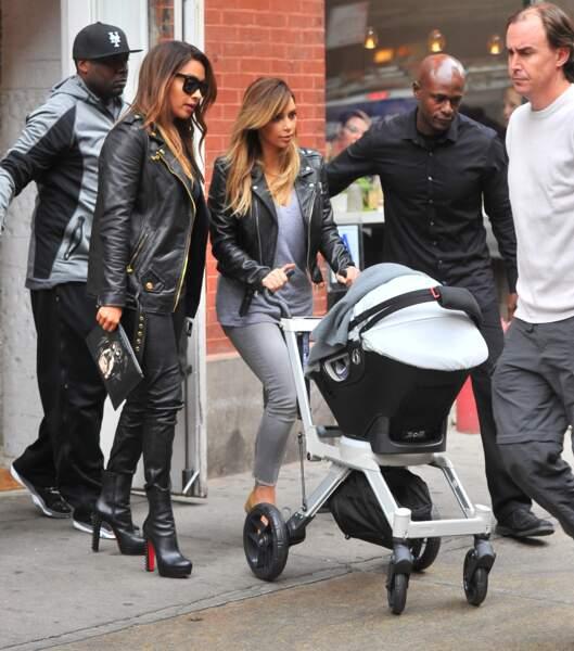 Kim Kardashian et sa fille Chicago