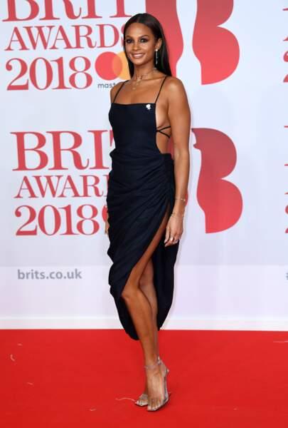 Alesha Dixon aux Brit Awards 2018, le 21 février à Londres