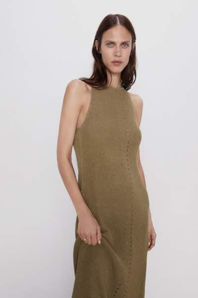 Robe longue en maille, Zara, 39,95€