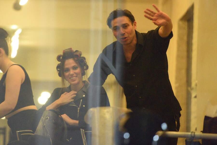 Iris Mitenaere et son coiffeur, toujours prêts à prendre la pose