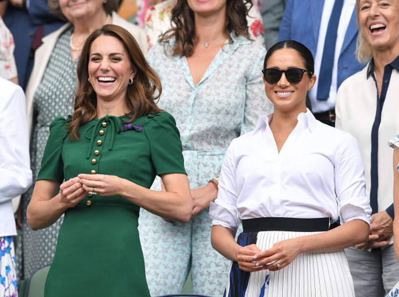 Kate Middleton et Meghan Markle radieuses