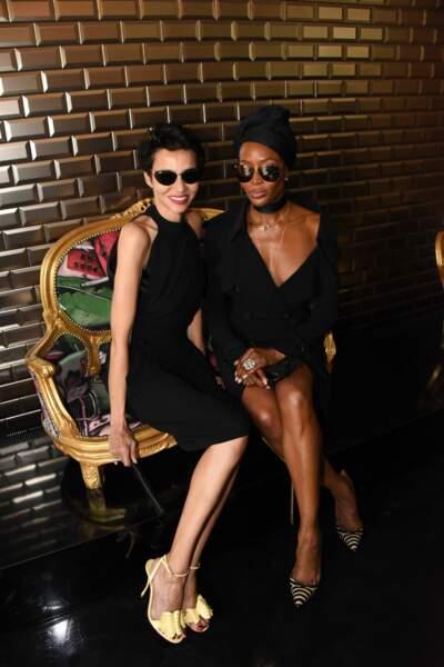 Naomi Campbell et Farida Khelfa au défilé Jean Paul Gaultier